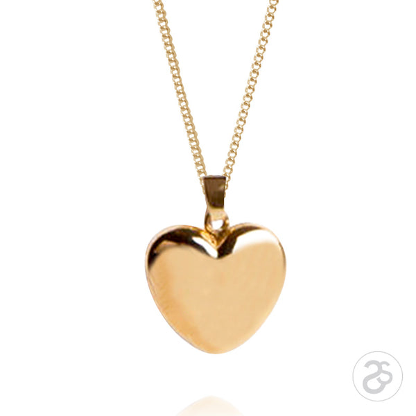 9ct Yellow Gold  Little Heart Photo Locket & Chain