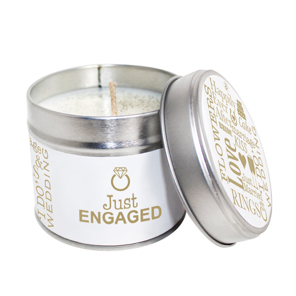 Just Engaged Soya Wax Candle Tin
