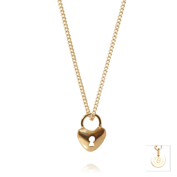 Yellow Gold Little Key To Your Heart Pendant