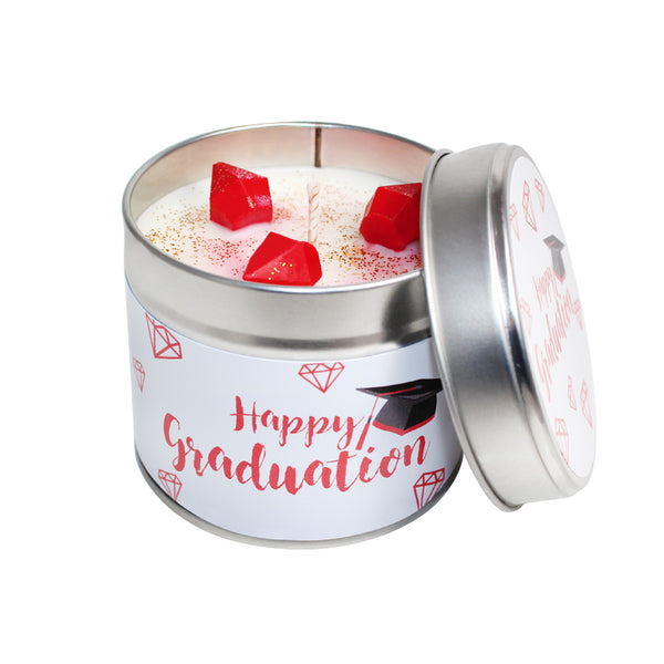 Happy Graduation Soya Wax Candle Tin