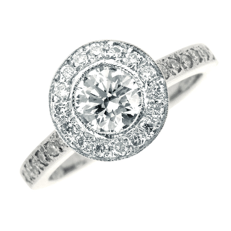 Platinum Alexander Brilliant Cut 0.80 CT Diamond Ring