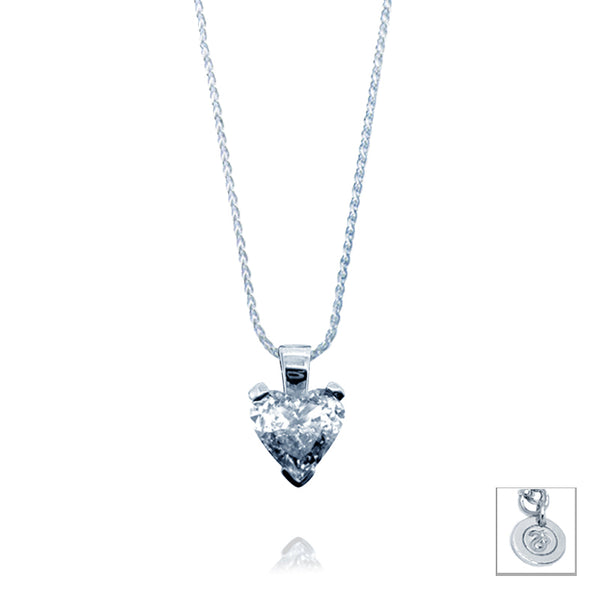 Heart Cut 0.5ct Diamond Pendant