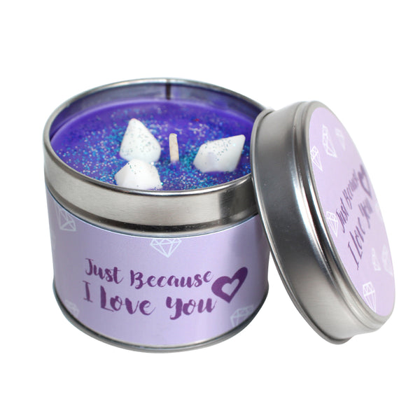 Just Because I Love You Soya Wax Candle Tin
