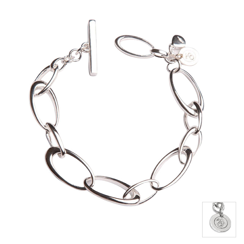 Sterling Silver Ellipse Bracelet