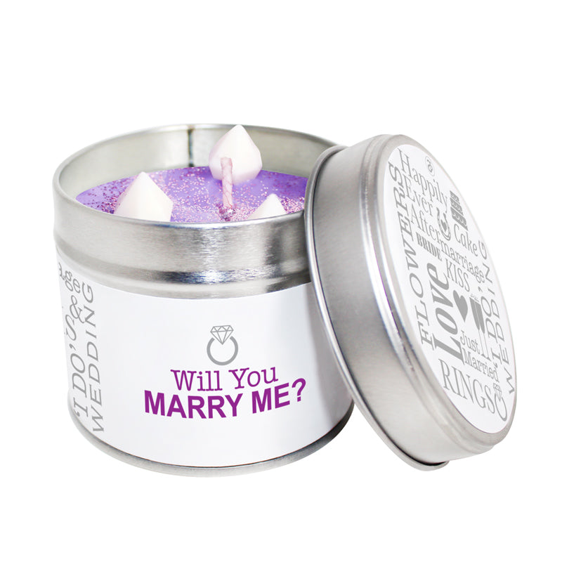 Will You Marry Me Soya Wax Candle Tin