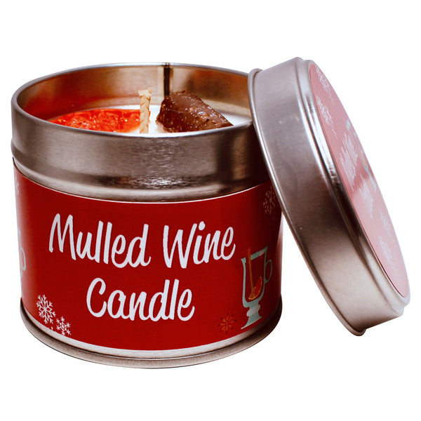 Christmas Warm Mulled Wine Soya Wax Candle Tin