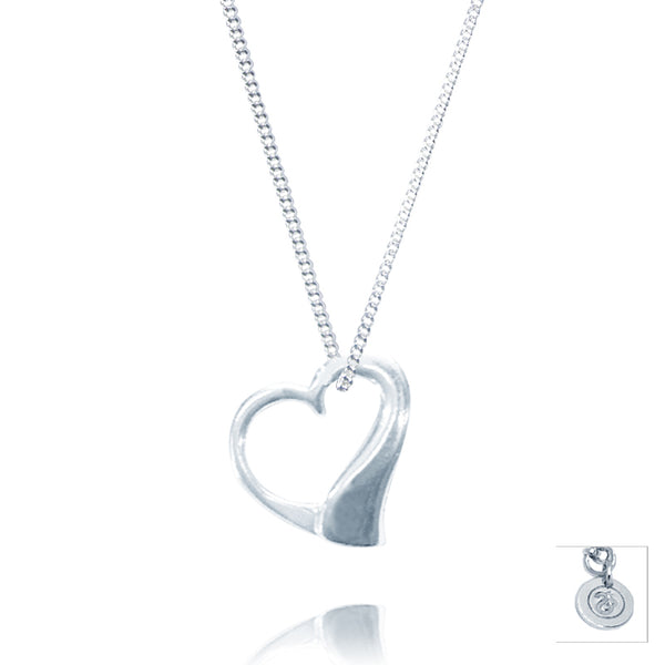 Sterling Silver Large True Love Pendant