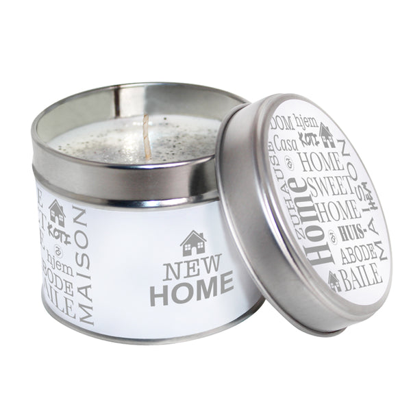 New Home Soya Wax Candle Tin
