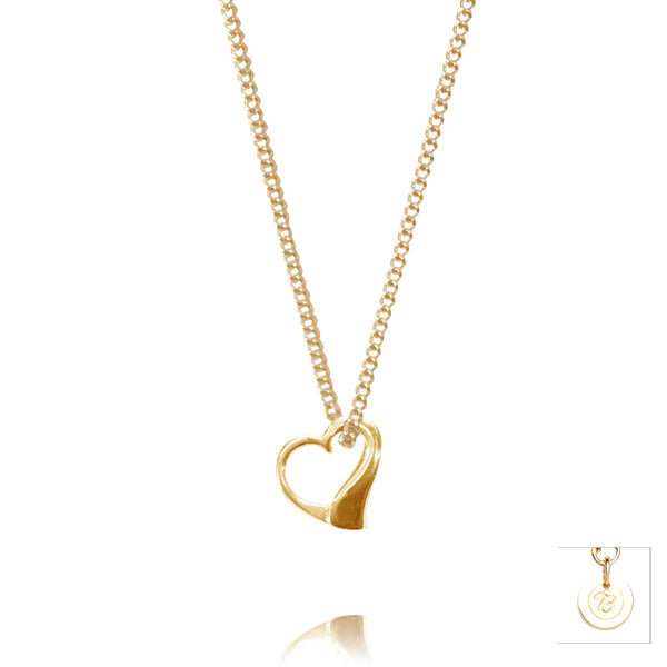 9ct Yellow Gold True Love Pendant