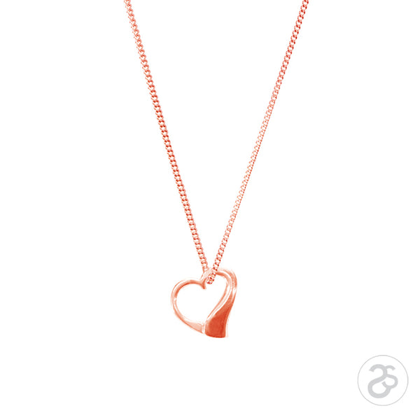 9ct Rose Gold True Love Pendant