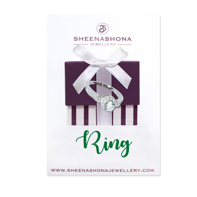 Sterling Silver New York Pave Ring