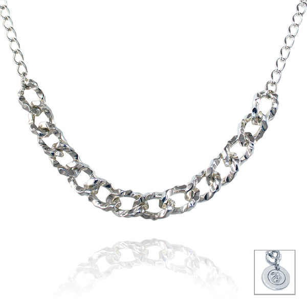 Sterling Silver Multi Organic Chain Necklace