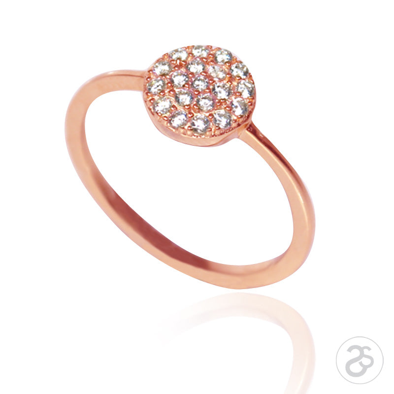 Rose Gold Vogue Button Ring