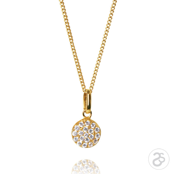 Yellow Gold Vogue Disc Pendant