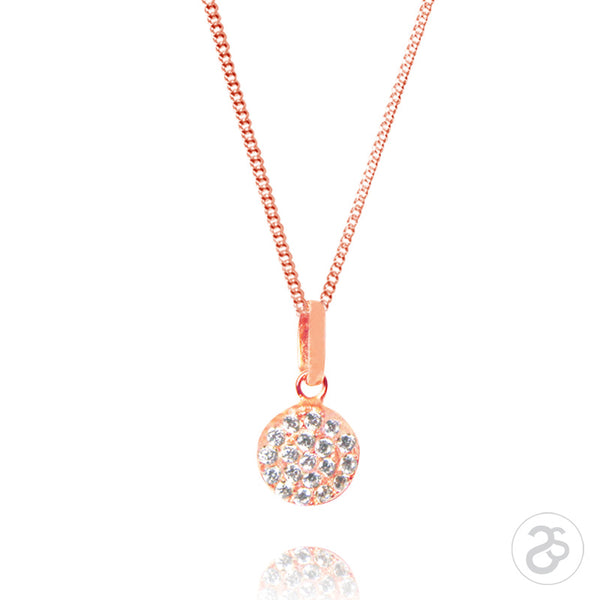 Rose Gold Vogue Disc Pendant