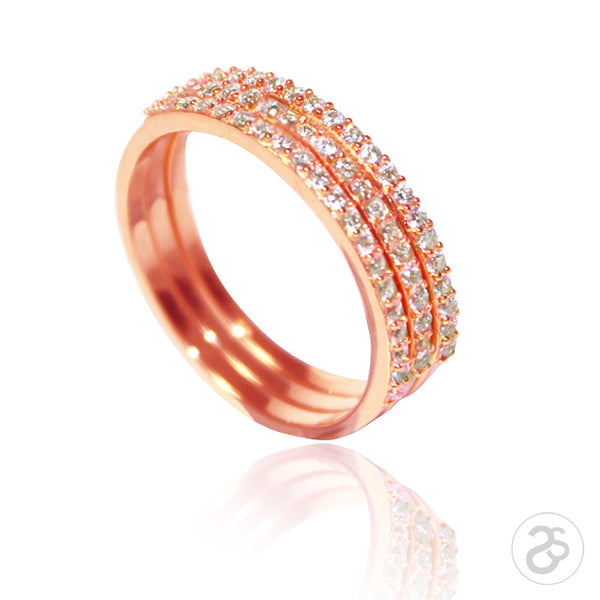 Rose Gold Stacking Vogue Eternity Rings