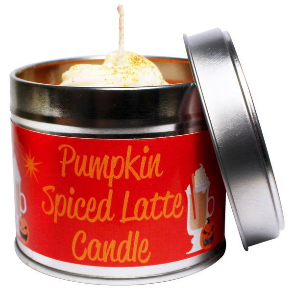 Spiced Pumkin Latte Soya Wax Candle Tin