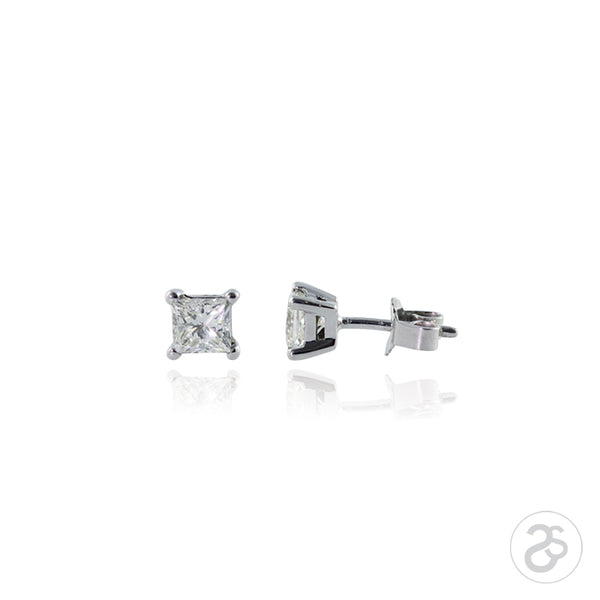Princess Cut 0.25ct Diamond Earrings