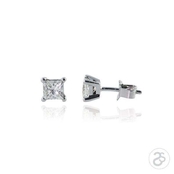 Princess Cut 0.50ct Diamond Earrings
