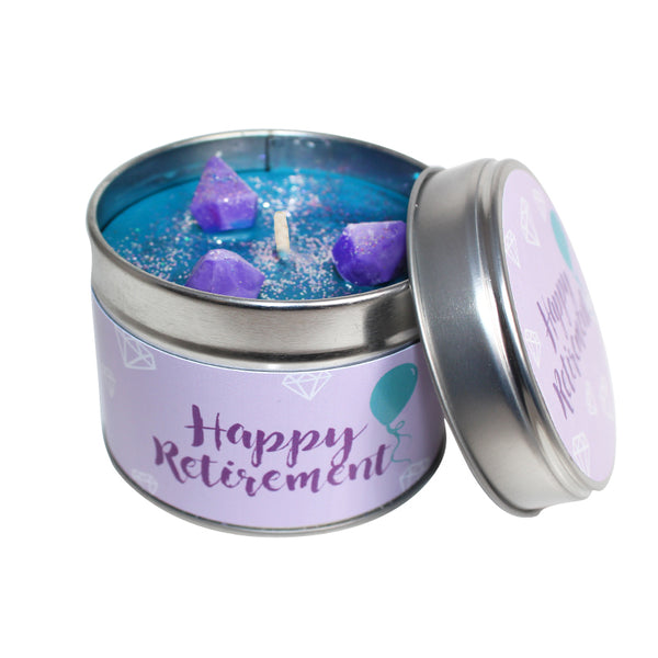 Happy Retirement Soya Wax Candle Tin