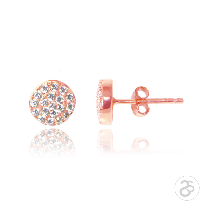 Rose Gold Vogue Stud Earrings