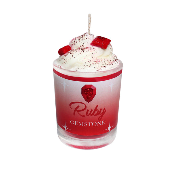Ruby Gemstone Soya Candle