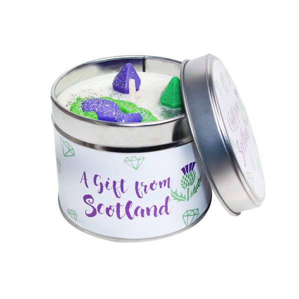 A Gift From Scotland A Thistle Soya Wax Candle Tin
