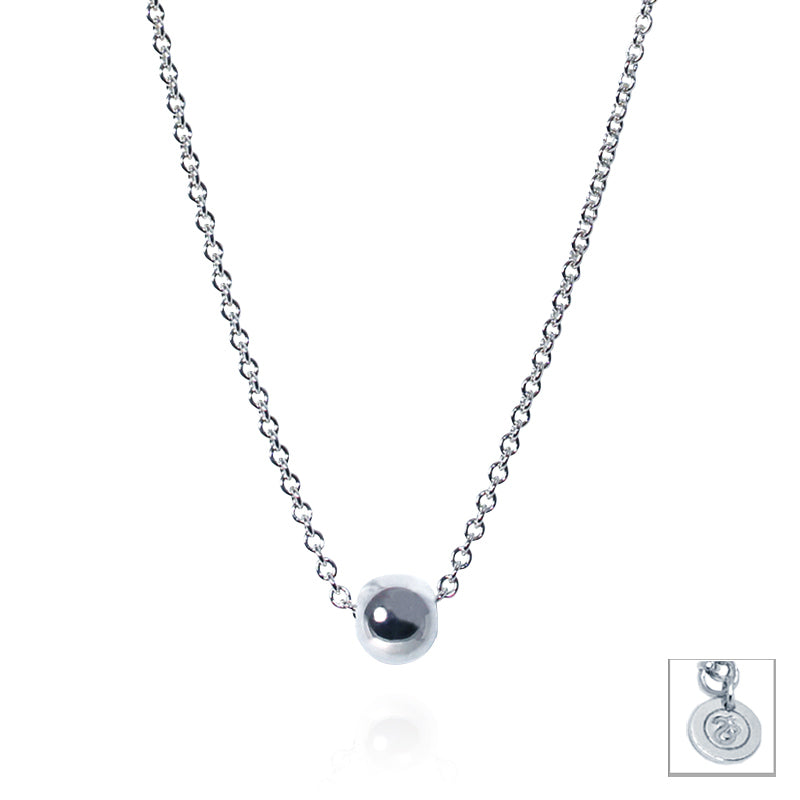 Sterling Silver Adjustable Ball Necklace