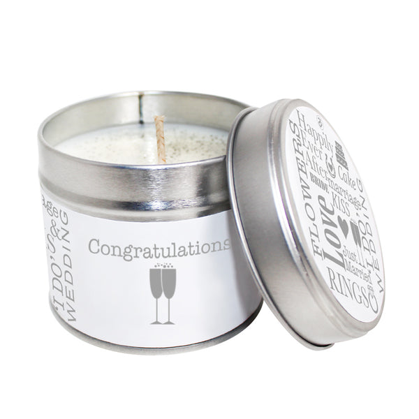 Congratulations Soya Wax Candle Tin