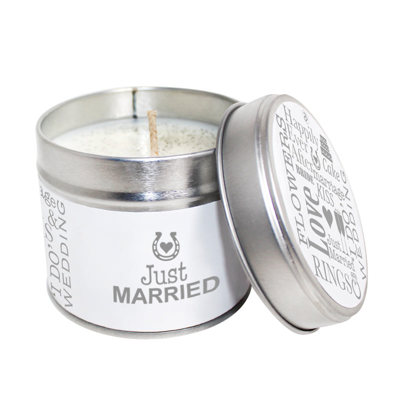 Just Married Soya Wax Candle Tin