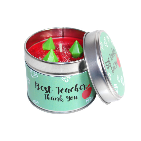 Best Teacher Soya Wax Candle Tin