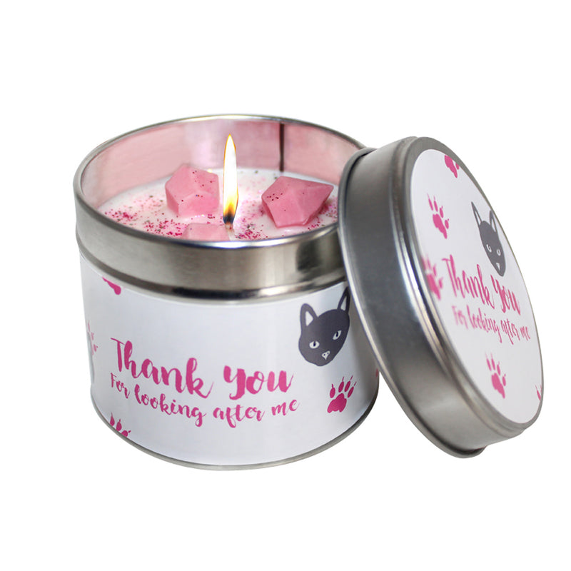 Thank You For Looking After My Cat Soya Wax Candle Tin