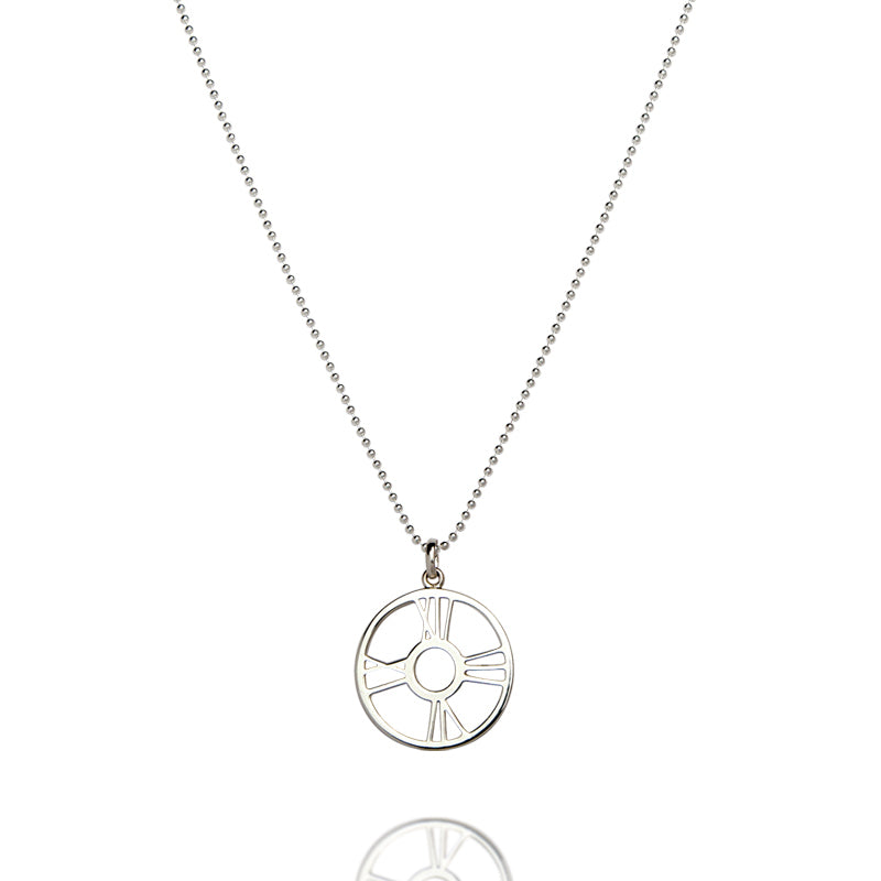 Sterling Silver Time & Eternity Pendant