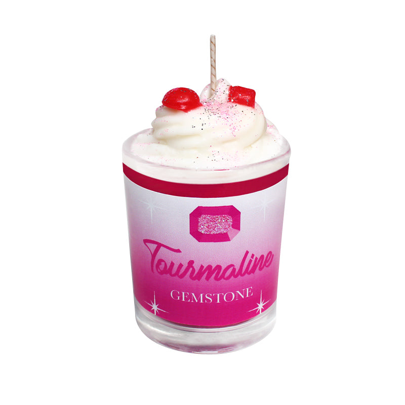 Tourmaline Gemstone Soya Candle