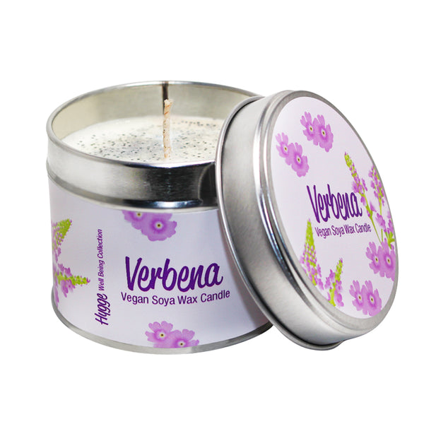 Verbena Scented Hygge Candle Tin