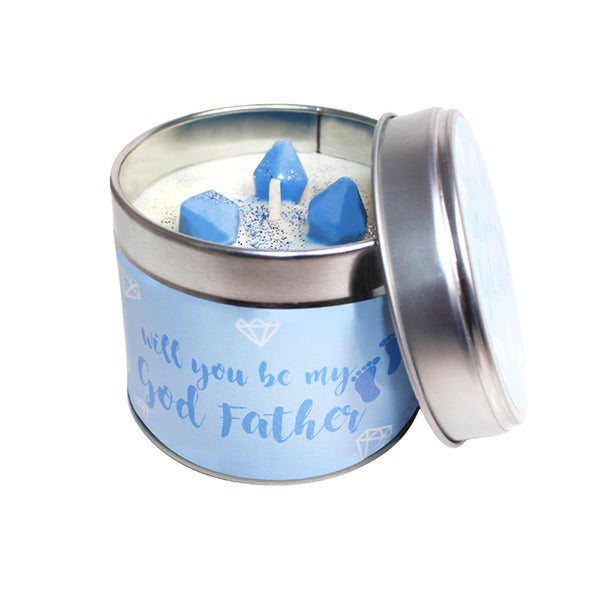 Will You Be My Godfather Soya Wax Candle Tin