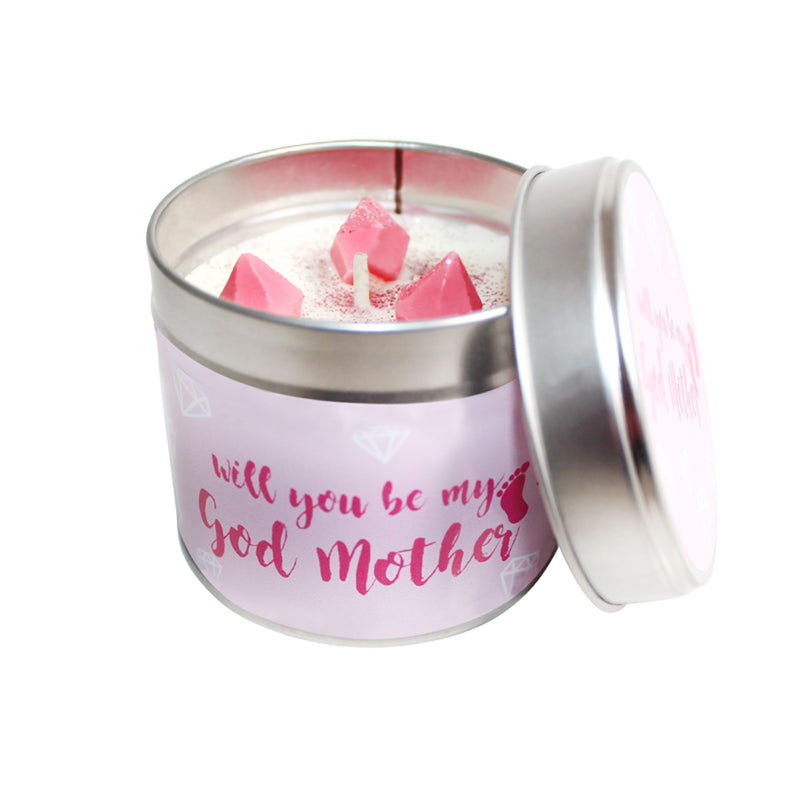 Will You Be My Godmother Soya Wax Candle Tin