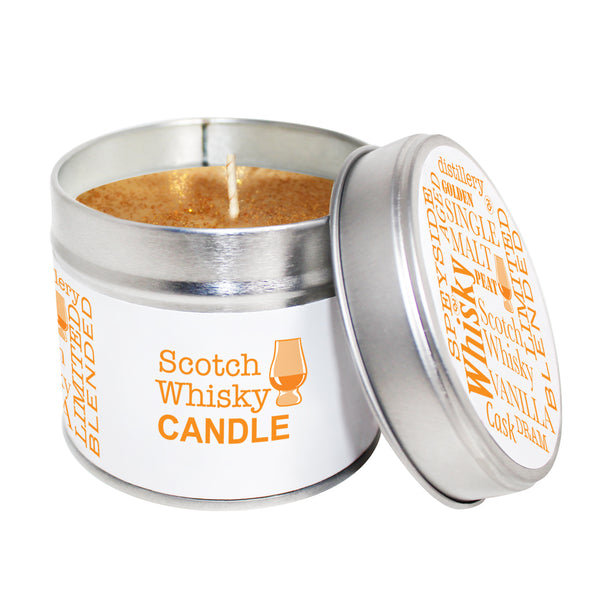 Whisky Scented Soya Wax Candle Tin