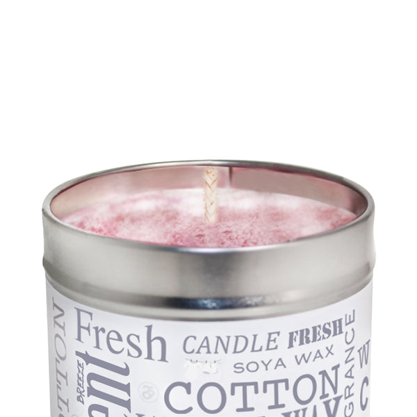 White Linen Scented Soya Wax Candle Tin