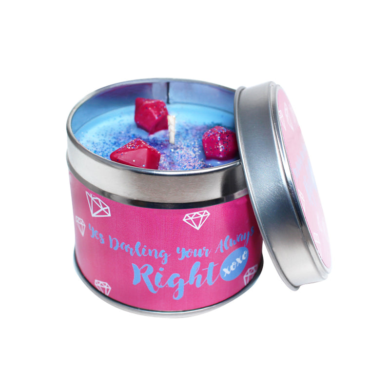 Just Darling You Are Always Right Soya Wax Candle Tin