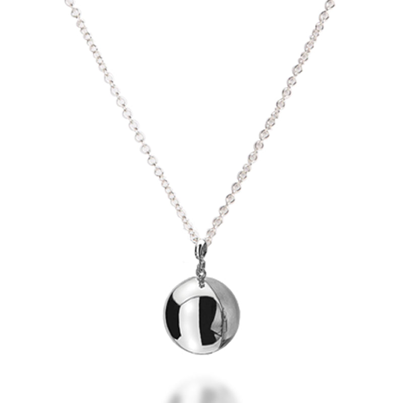 Sterling Silver Orb Photo Locket & Chain