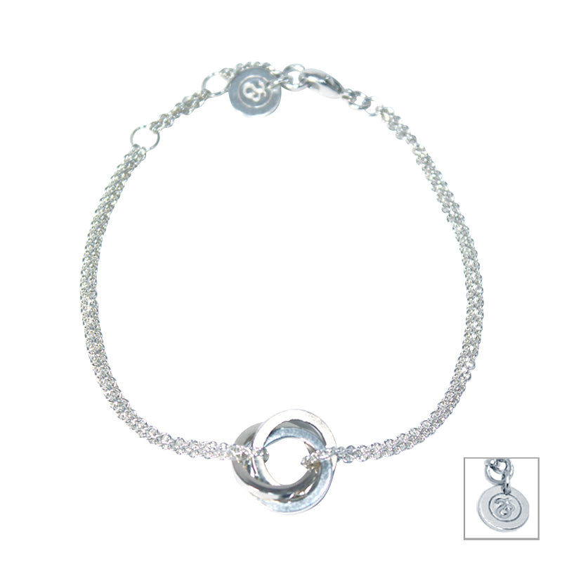 Sterling Silver Interlocking Adjustable Fine Bracelet