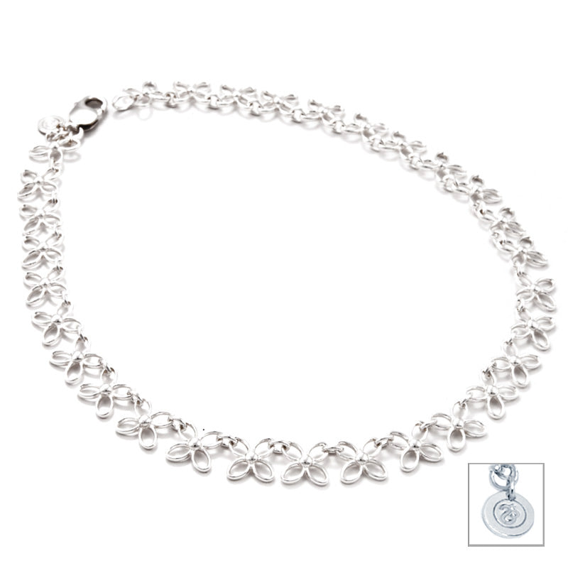 Sterling Silver Butterfly Linked Necklace