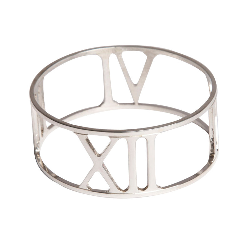 Sterling Silver Time & Eternity Bangle