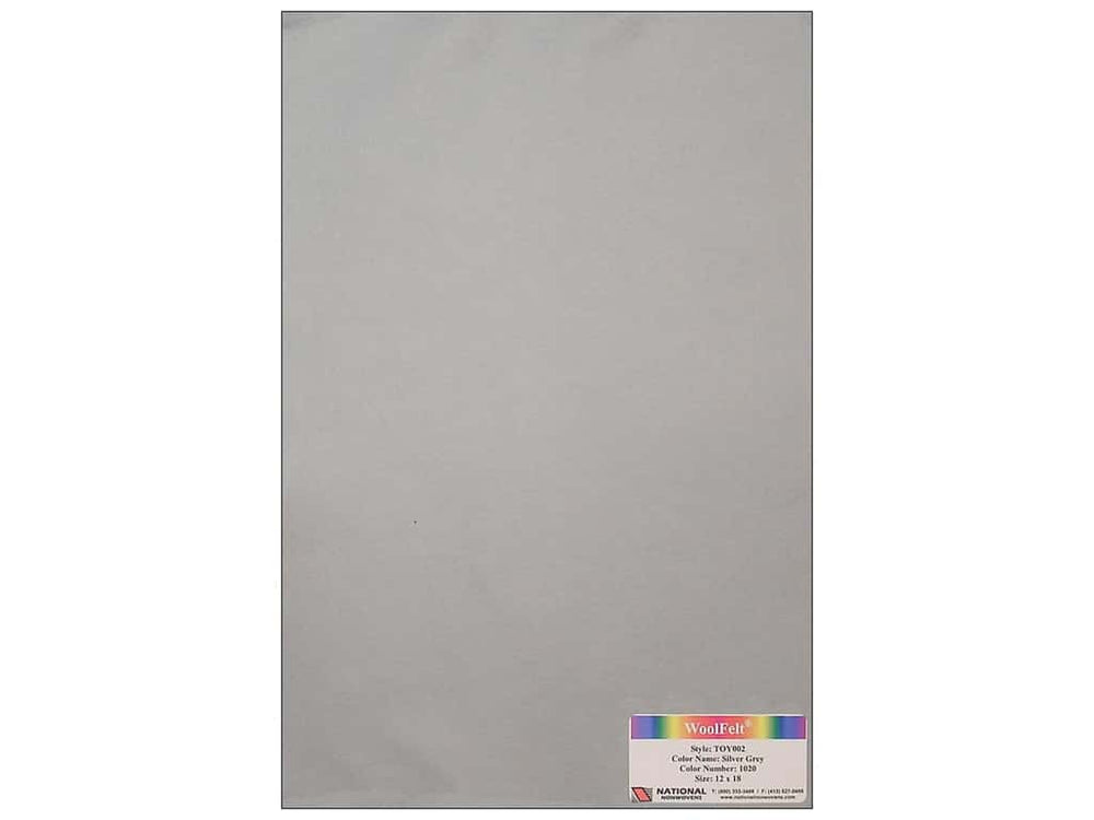 Woolfelt: Silver Grey 18 x 12 inches