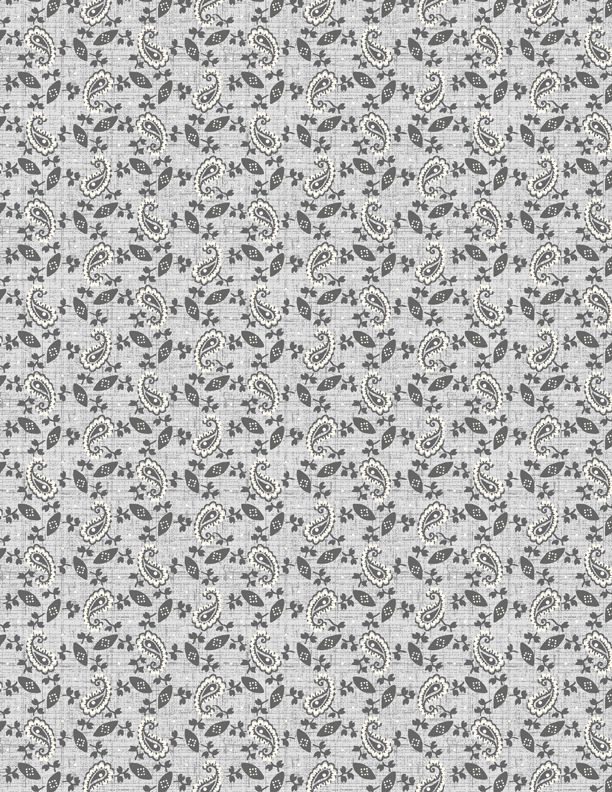 Wilmington Black Cottage Paisley Light Grey