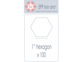 "Load image into Gallery viewer, Hugs 'n Kisses  EPP iron ons - 1"" Hexagons"
