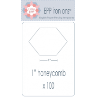 "Load image into Gallery viewer, Hugs 'n Kisses  EPP iron ons - 1"" honeycomb"