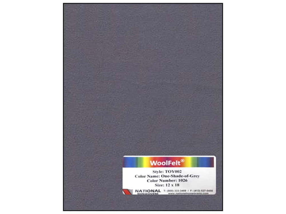 Woolfelt: One Shade of Grey 18 x 12 inches