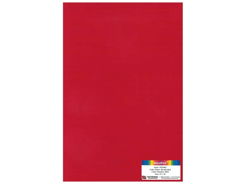 Load image into Gallery viewer, Woolfelt: Rockin Red 18 x 12 inches